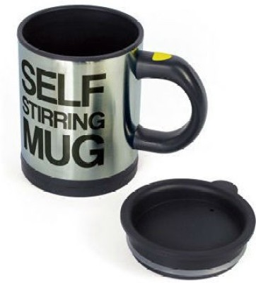 Shrih Self Stirring For Coffee Tea Plastic, Stainless Steel Mug(350 ml) at flipkart