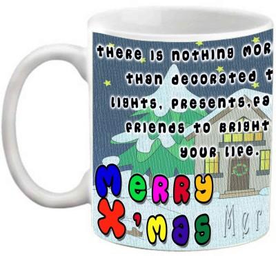 EFW Merry Christmas Happy New Year Printed Coffee Efwmu0100103 Ceramic Mug(325 ml)