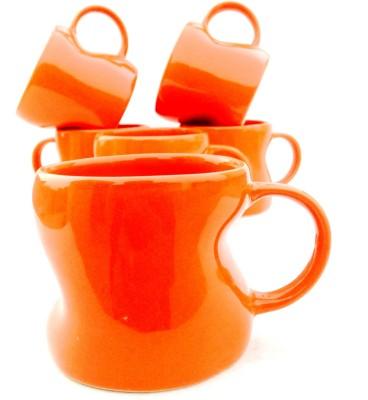 Chi J2021 Ceramic Mug(130 ml, Pack of 6) at flipkart