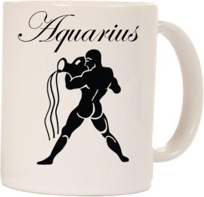 Smileonline Zodiac Coffee - Aquarius Ceramic Mug  available at flipkart for Rs.270