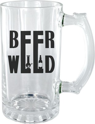 Keep Calm Desi Beer Weed Clear Beer Glass Mug(500 ml) at flipkart