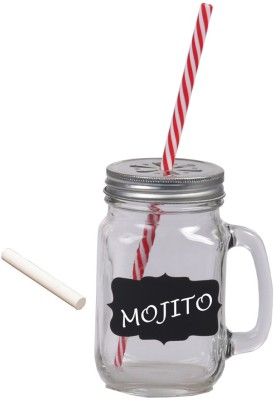 Platex Classy Mason Jar Glass Mug(450 ml) at flipkart