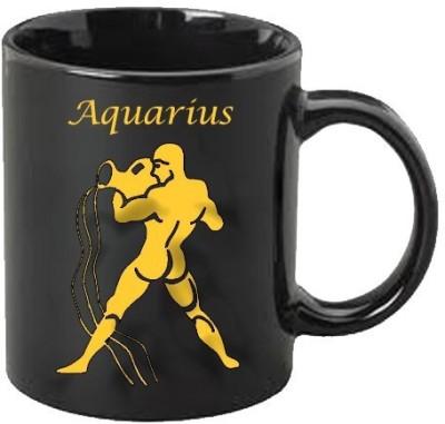 Smileonline Zodiac Coffee - Gold - Aquarius Ceramic Mug  available at flipkart for Rs.385