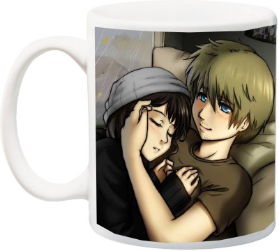 IZOR Gift for Husband/Wife/Boyfriend/Girlfriend/Couple On Valentine's Day Or Anniversary;Boy And Girl printed Ceramic Mug(325 ml) at flipkart