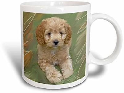 3dRose Miniature Poodle Puppy Ceramic, 11-Ounce Ceramic Mug(60 ml) at flipkart