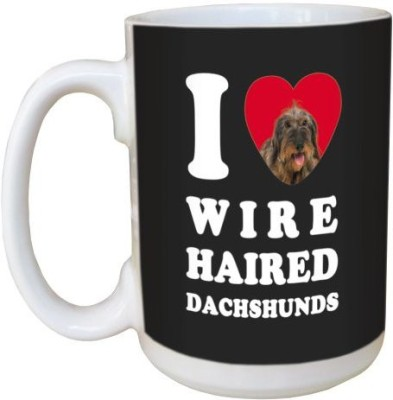 Tree Free Free Greetings LM45039 I Heart Wire Haired Dachshunds Ceramic with Full-Sized Handle, 15-Ounce Ceramic Mug(60 ml) at flipkart