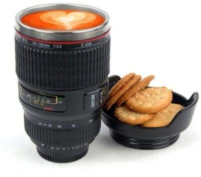 Caniam Camera Lens Self Stirring Cookie Lid Plastic, Stainless Steel Mug(250 ml) at flipkart
