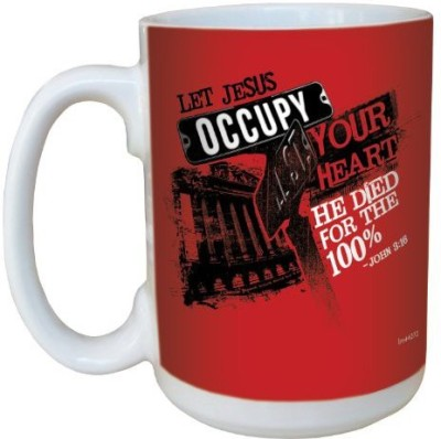 Tree-Free Greetings Greetings lm44272 Jesus Occupy 100-Percent: John 3:16 Ceramic with Full-Sized Handle, 15-Ounce Ceramic Mug(60 ml) at flipkart