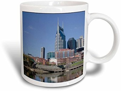 3dRose mug_190339_1 USA, Tennessee, Nashville View of The Downtown Nashville Skyline Ceramic, 11 oz, White Ceramic Mug(60 ml) at flipkart