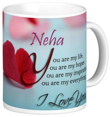 Exoctic Silver Neha Love Romantic Valentine Quotes 006 Ceramic Mug