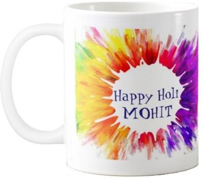 Exoctic Silver Happy Holi Mohit Series002 Ceramic Mug(330 ml)
