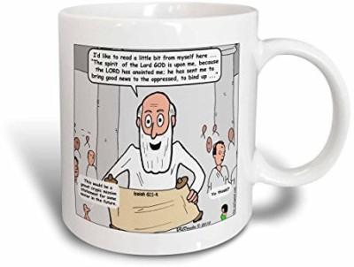 3dRose Isaiah 61 1 4 Isaiahs Gospel The Prequel Bible Mission Statement Proclaiming The Good News Ceramic, 11 oz, White Ceramic Mug(60 ml) at flipkart