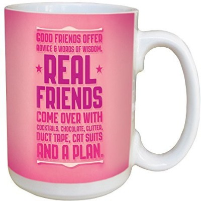 Tree-Free Greetings Greetings 45486 Angi and Silas Real Friends Ceramic with Full-Sized Handle, 15-Ounce Ceramic Mug(60 ml) at flipkart