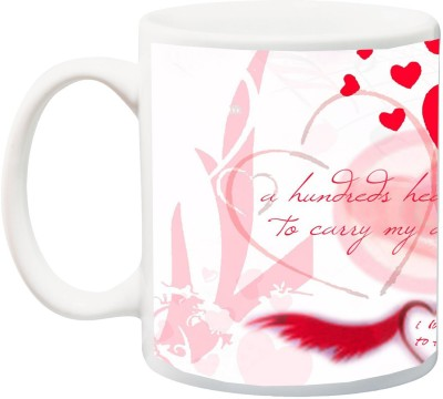 IZOR Gift for Husband/Wife/Boyfriend/Girlfriend/lover;Special A Hundreds heart world be too curry my all love for you Love HD Printed Ceramic Mug(325 ml)