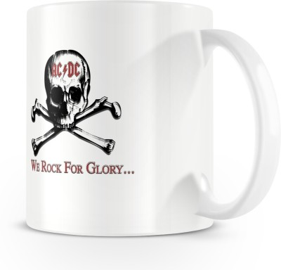 Posterchacha We Rock For Glory Ac Dc Fan Made Artwork White Bone China Coffee Ceramic Mug(330 ml)  available at flipkart for Rs.299