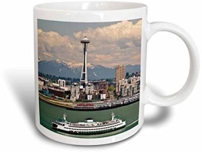 3dRose Washington, Seattle. Ferry Crosses Elliot Bay Us48 Ccr0218 Charles Crust Ceramic, 15 oz, White Ceramic Mug(60 ml) at flipkart