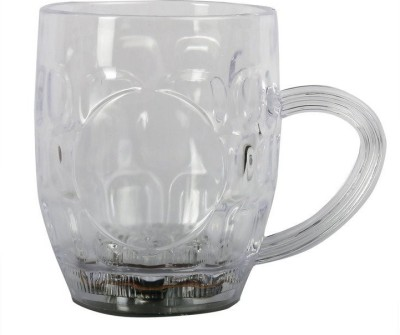 PH Artistic Fibre Glass Beermug With Inductive Rainbow Color Disco Led 7 Colour Changing Liquid Activated Lights Plastic Mug(295 ml)  available at flipkart for Rs.299