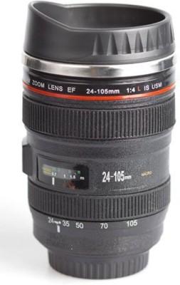 GIFTee Camera Lens Coffee Travel Flask Stainless Steel Mug(350 ml) at flipkart