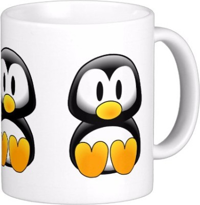 Exoctic Silver Cute Penguin C001 Ceramic Mug(300 ml)  available at flipkart for Rs.299