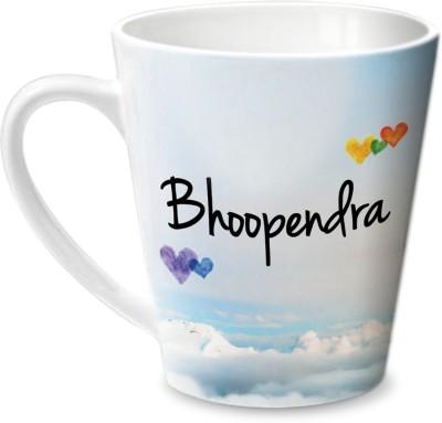 Hot Muggs Simply Love You Bhoopendra Conical Ceramic Mug(350 ml) at flipkart