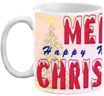 EFW Merry Christmas Happy New Year Printed Coffee Ceramic Mug(325 ml)