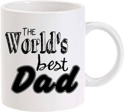 IZOR Gift for father/daddy;World's Best Dad printed Ceramic Mug(325 ml) at flipkart