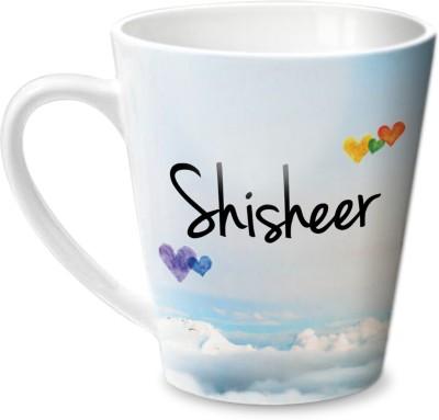 Hot Muggs Simply Love You Shisheer Conical Ceramic Mug(315 ml)