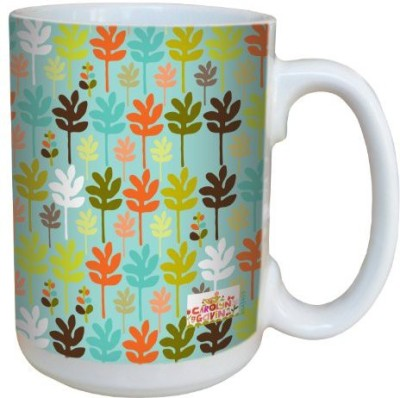 Tree-Free Greetings Greetings lm43499 Contemporary Little Trees by Carolyn Gavin Ceramic with Full-Sized Handle, 15-Ounce Ceramic Mug(60 ml) at flipkart