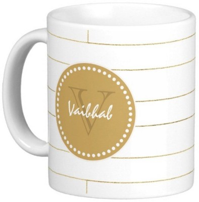 Exoctic Silver VAIBHAB Ceramic Mug(330 ml) at flipkart