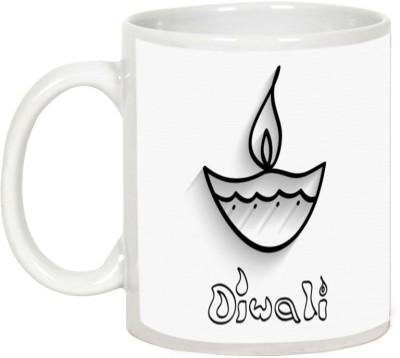 AllUPrints Gifts For Diwali - Wish You A Very Happy Diwali Ceramic Mug(325 ml) at flipkart
