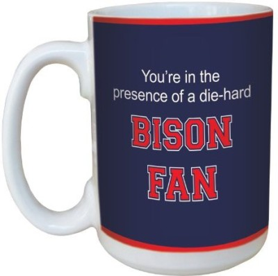 Tree-Free Greetings Greetings lm44733 Bison College Basketball Ceramic with Full-Sized Handle, 15-Ounce Ceramic Mug(60 ml) at flipkart