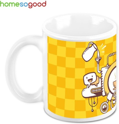 Homesogood The Coffee Machine Ceramic Mug(280 ml)  available at flipkart for Rs.349