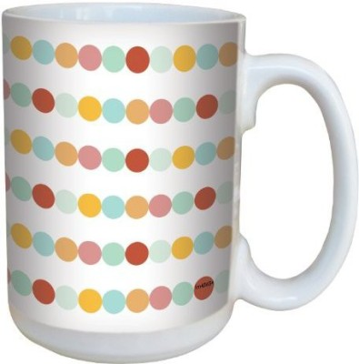 Tree-Free Greetings Greetings lm43634 Cool Colored Dots by Shell Rummel Ceramic with Full-Sized Handle, 15-Ounce, Multicolored Ceramic Mug(60 ml) at flipkart