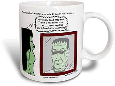 3dRose Halloween Frankenstein is Not A Zombie Ceramic, 11 oz, White Ceramic Mug(60 ml) at flipkart