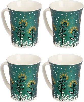 Somil Somil Fresh Green Nature Milk Cup Set Of 4 Ceramic Mug(250 ml, Pack of 4) at flipkart