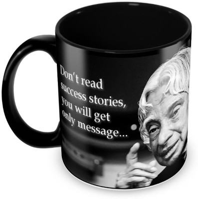 Tuelip Good Thought Abdul Kalam Printed Full Black Tea And Coffee Ceramic Mug(350 ml) at flipkart