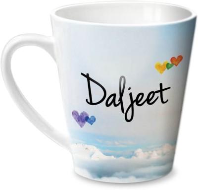 Hot Muggs Simply Love You Daljeet Conical Ceramic Mug(350 ml) at flipkart