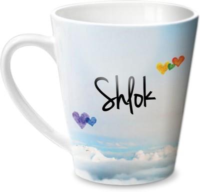 Hot Muggs Simply Love You Shlok Conical Ceramic Mug(315 ml)