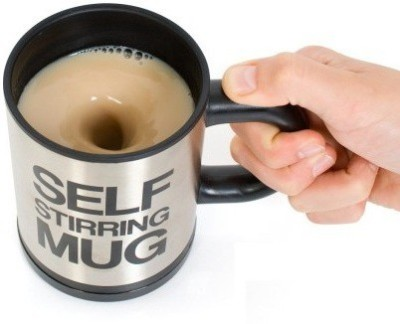 MK Self Stirring With Lid Stainless Steel Mug(350 ml) at flipkart