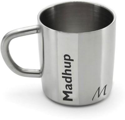 Hot Muggs Me Classic - Madhup Stainless Steel Mug(200 ml) at flipkart