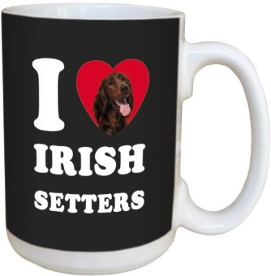 Tree Free Free Greetings LM45067 I Heart Irish Setters Ceramic with Full-Sized Handle, 15-Ounce Ceramic Mug(60 ml) at flipkart