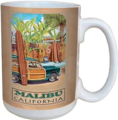 Tree-Free Greetings Greetings lm43025 Vintage Malibu California Woody by Evelyn Jenkins Drew Ceramic with Full-Sized Handle, 15-Ounce, Multicolored Ceramic Mug(60 ml) at flipkart