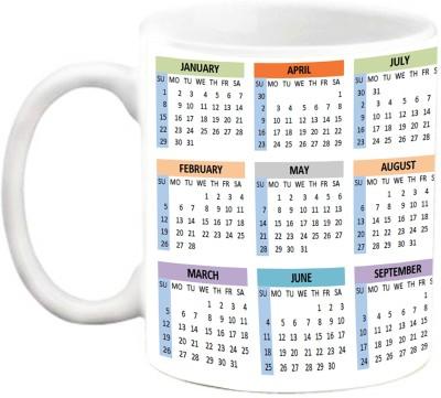 EFW COFFEE-MUG : Calendar 2017 Design3 Ceramic Mug(325 ml)