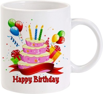 40 OFF On Lolprint Happy Birthday Cake Ceramic Mug325 Ml Flipkart