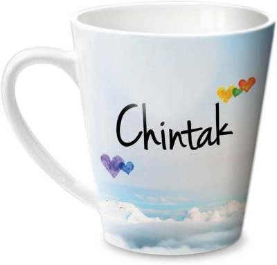 Hot Muggs Simply Love You chintak Conical Ceramic Mug(350 ml)  available at flipkart for Rs.275