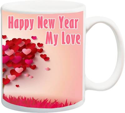 ME&YOU Gift for Lover;Happy New Year My Love Printed Ceramic Mug(325 ml)