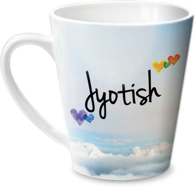 Hot Muggs Simply Love You jyotish Conical Ceramic Mug(350 ml)  available at flipkart for Rs.249
