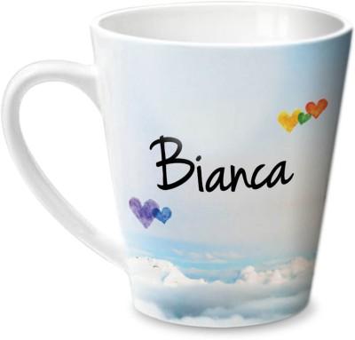 Hot Muggs Simply Love You Bianca Conical Ceramic Mug(350 ml) at flipkart