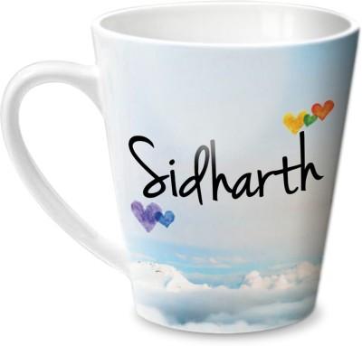 Hot Muggs Simply Love You Sidharth Conical Ceramic Mug(315 ml)