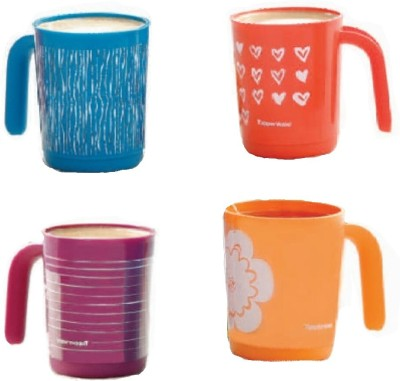 Tupperware ILLUMINA Plastic Mug(350 ml, Pack of 4) at flipkart